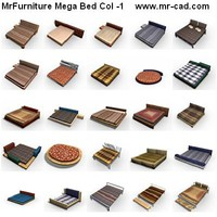 3d model mrfurniture beds mega 358