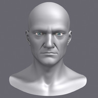 Midlle Aged Man Head 3d Model