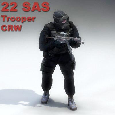 crw trooper sas 3d model