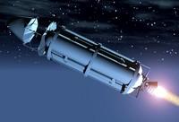 retro space ship 3d model