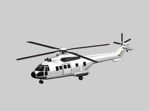 aerospatiale super puma generic 3d model