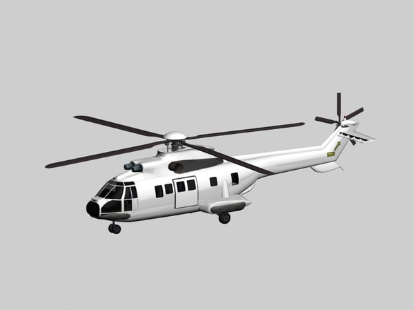aerospatiale super puma generic 3d model
