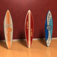 3D Surf boards Model