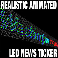 Realistic Working LED News Ticker