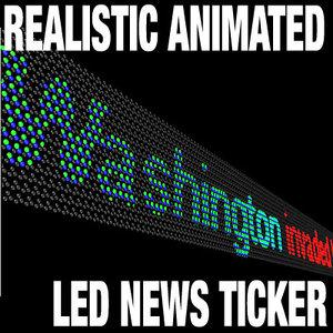 maya led news ticker display
