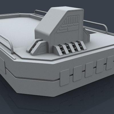 sci fi elements 3d model