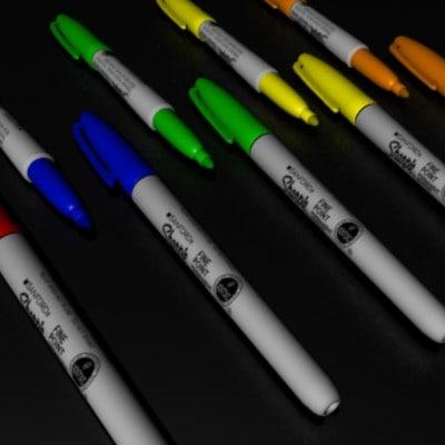 3d model sharpie marker