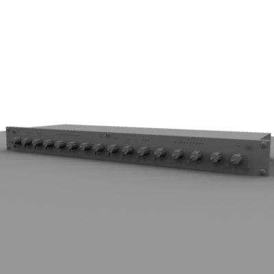 dbx compressor gray 3d model