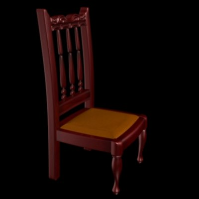 wood chair 3d lwo