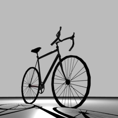 free road bike 3d model