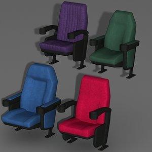 3d model movie theater seat