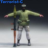 terrorist man 3d 3ds
