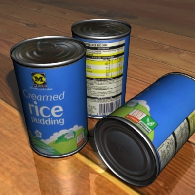 morrisons creamed rice pudding 3d max