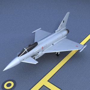 3d eurofighter typhoon model