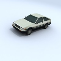 3d toyota corolla vehicle car
