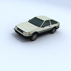 3d toyota corolla vehicle car