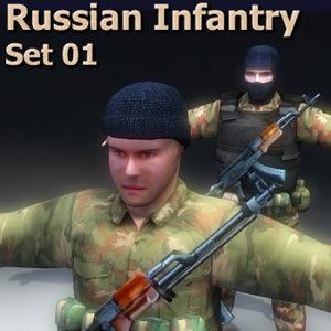 russian infantry 3d model