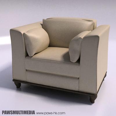 3d single sofa