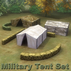 multi military tent 3d max