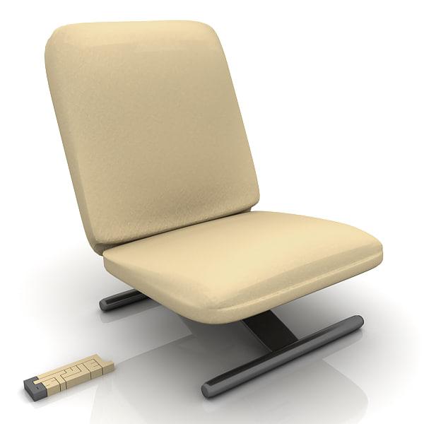3d max poltrona frau touch chair