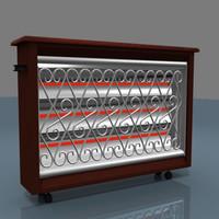 heating quartz stove 3d max