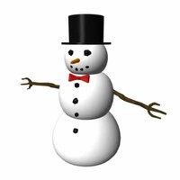 snow man 3d df