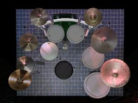 force 3500 drum sets 3d model