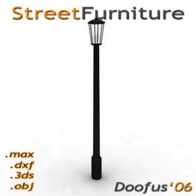 3d street furniture