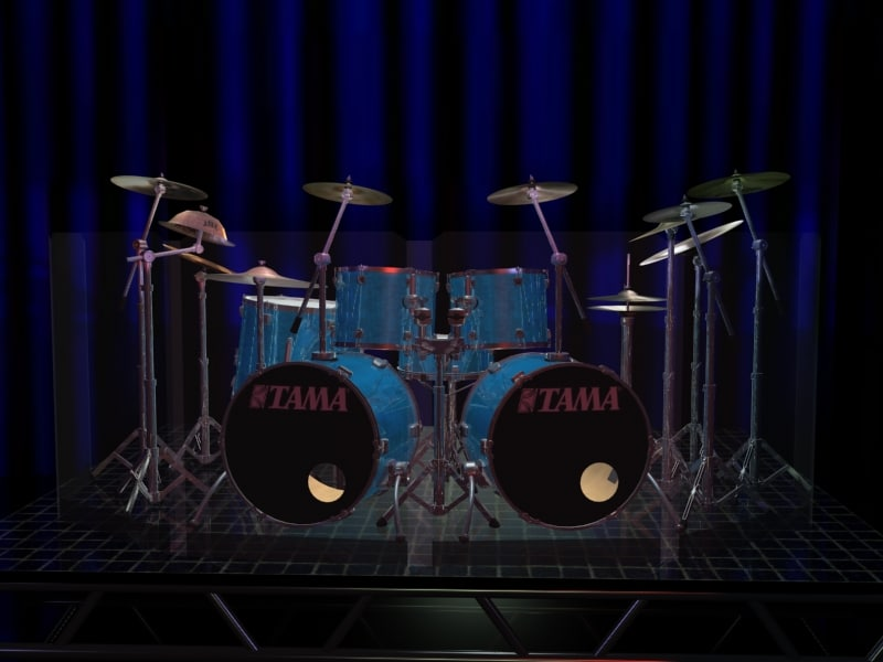 3d model gemini drum sets