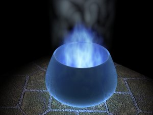 maya blue glass jar