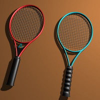 3dsmax tennis rackets