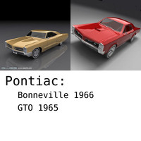 3d model pontiac bonneville gto -