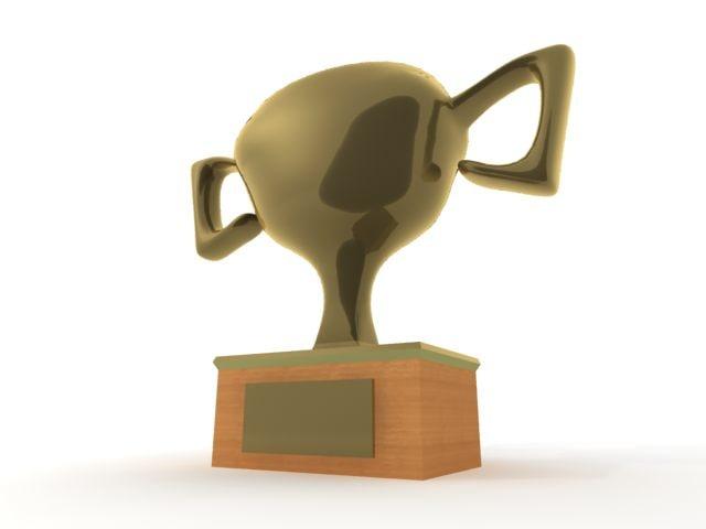 3d model gold cup