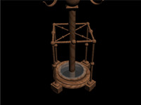 3d hat stand model