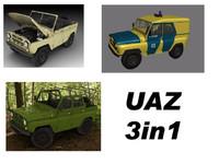 3d uaz military ussr model