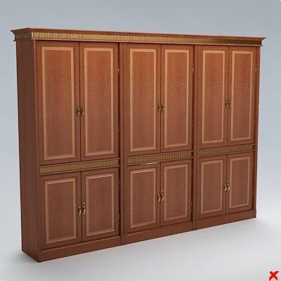 3d max bookcase cabinet