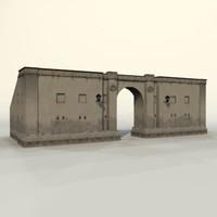 3d model gate 1
