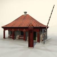 3d guards building model