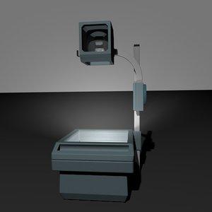 overhead projector 3d model