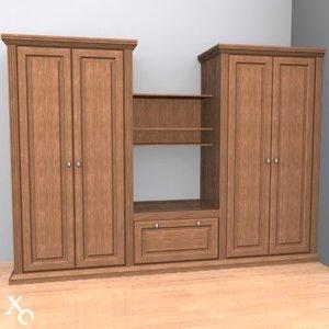cabinet wardrobe 3d model