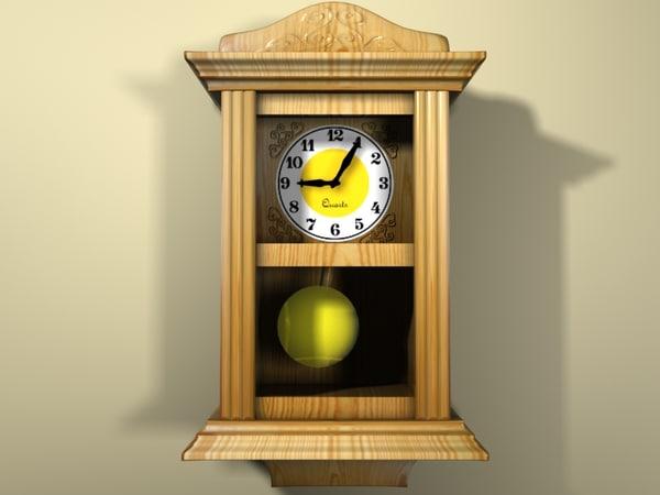 3d model stylish wall clock