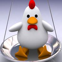3ds max toy chicken