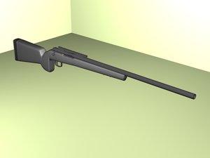 3d bolt action rifle gun