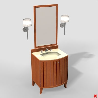 3d sink basin mirror
