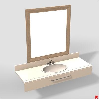 basin mirror 3d model