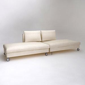 linea oasi sofa 3d model