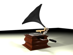 3d max phonograph gramaphone