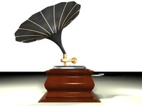 3d model phonograph gramaphone