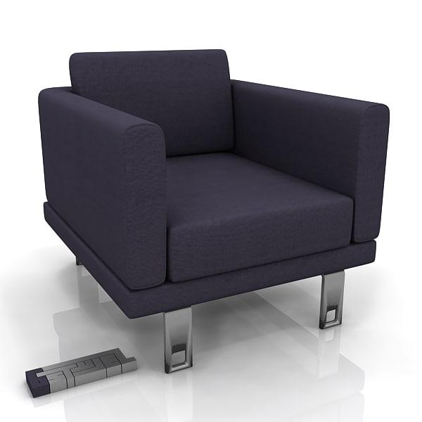 3d boss milli armchair model