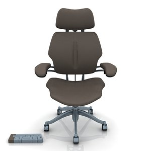 humanscale task chair 2 3d model